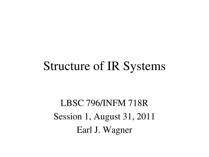 structure of ir systems n.