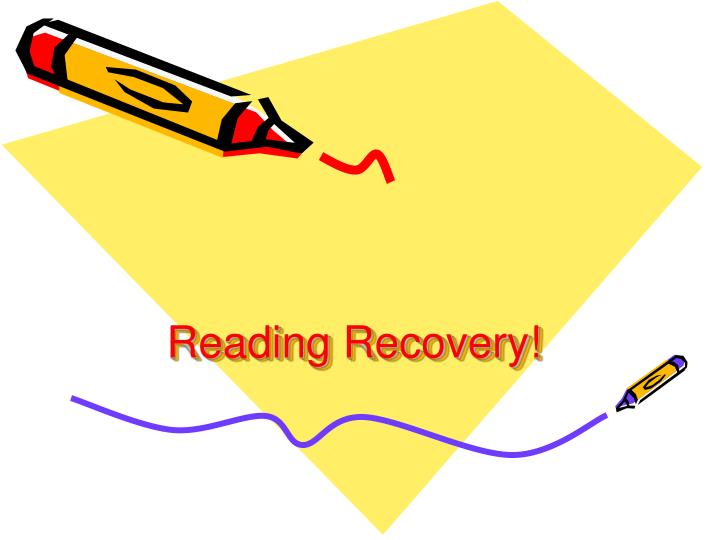 reading recovery n.