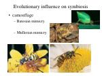 evolutionary influence on symbiosis