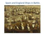 spain and england ships in battle