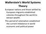 wallerstein s world systems theory