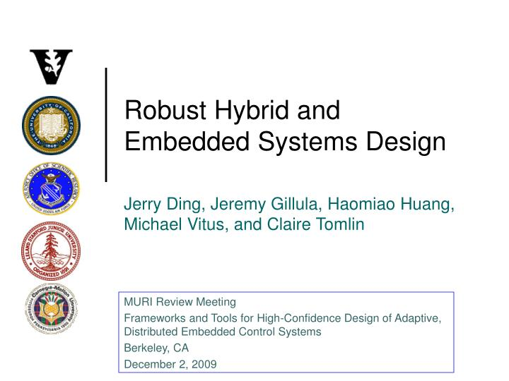 robust hybrid and embedded systems design n.