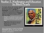booker t washington and education for black people