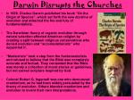 darwin disrupts the churches
