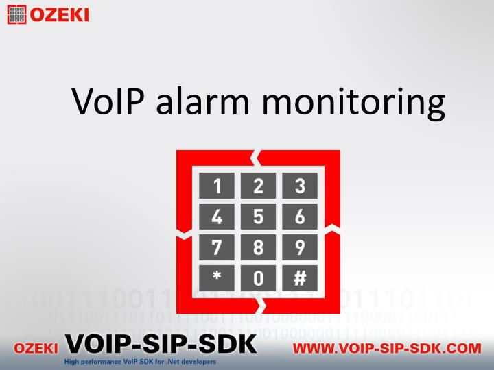 Voip alarm monitoring