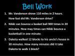 bell work2