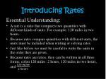introducing rates