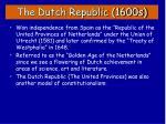 the dutch republic 1600s