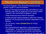 the dutch republic 1600s1