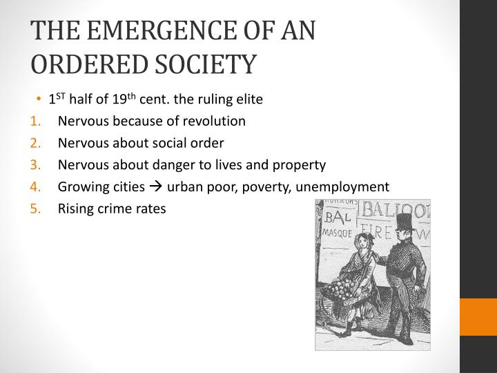 the emergence of an ordered society n.