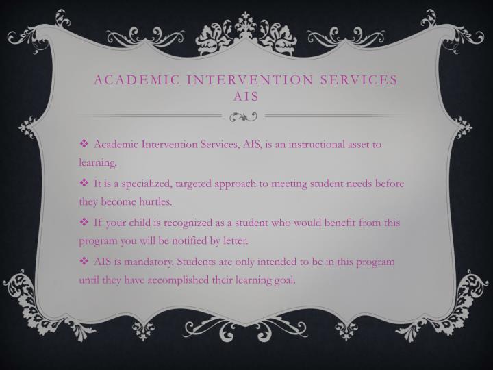 Academic Intervention Services