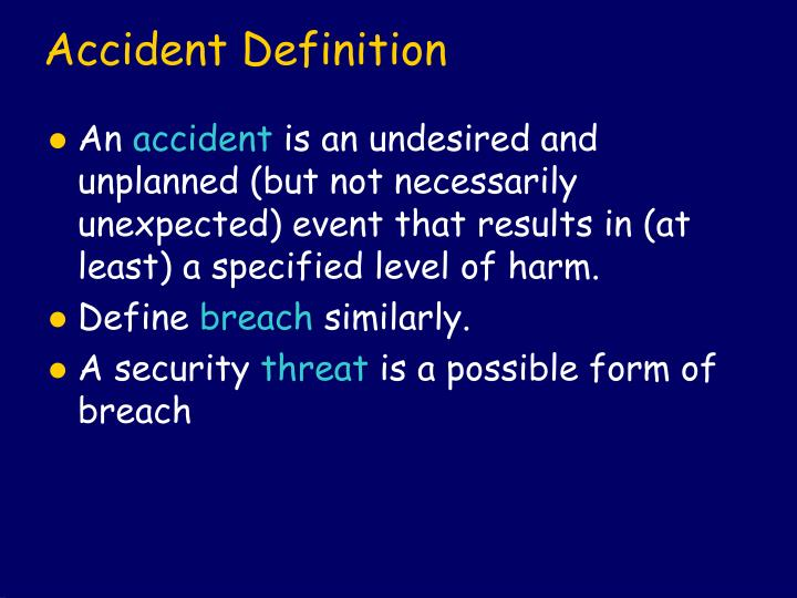 Accident Definition