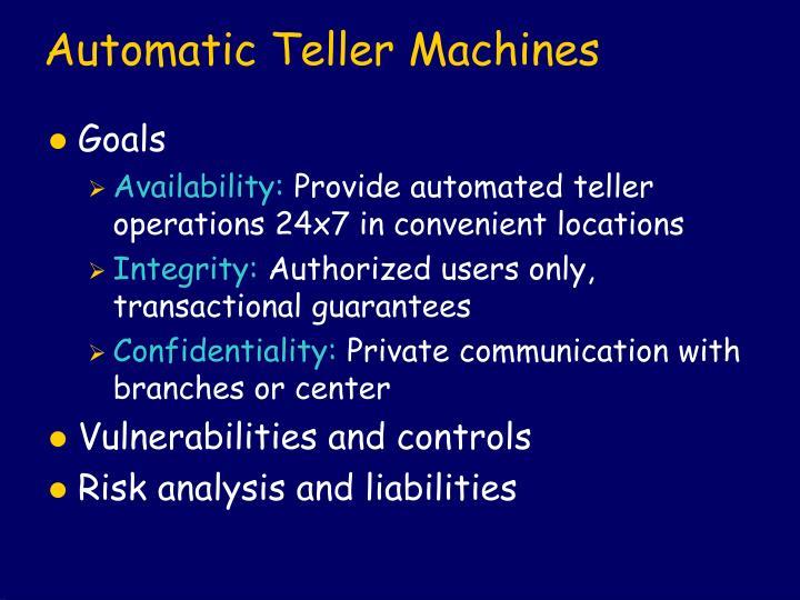 Automatic Teller Machines