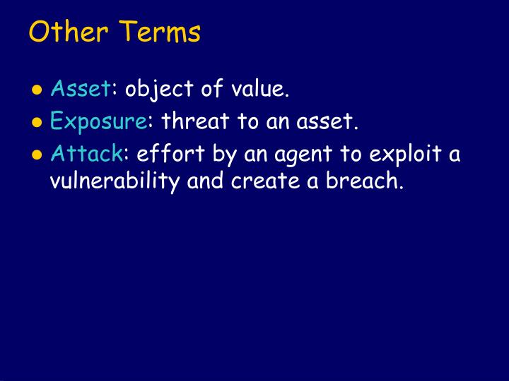 Other Terms
