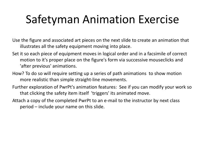 safetyman animation exercise n.