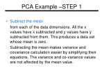 pca example step 1