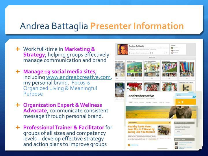 Andrea battaglia presenter information
