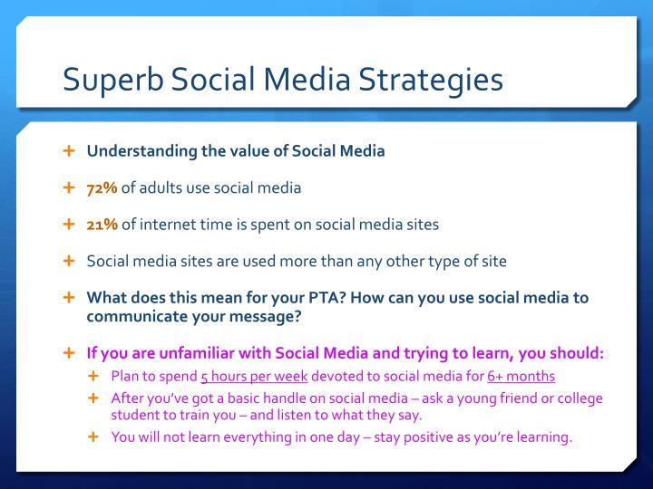 Superb social media strategies1
