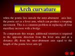 arch curvature