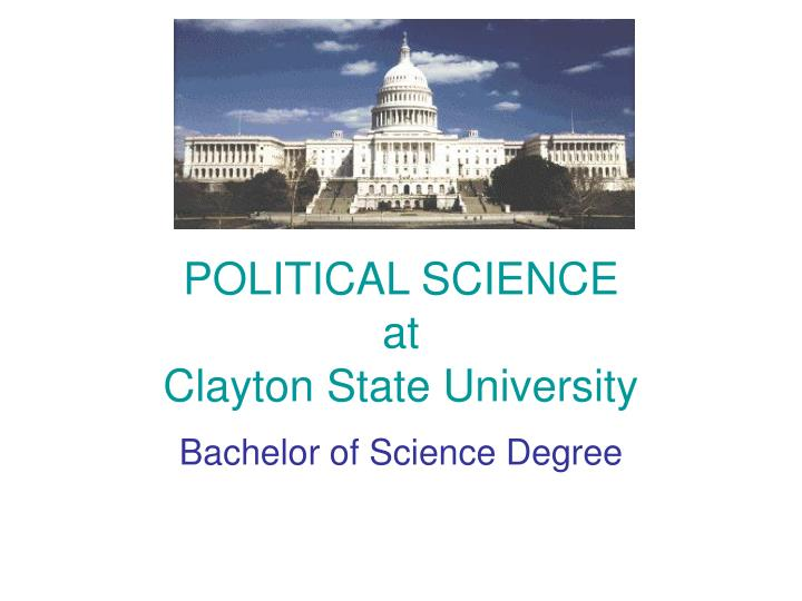 political science at clayton state university n.