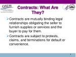 contracts what are they