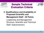 sample technical evaluation criteria1
