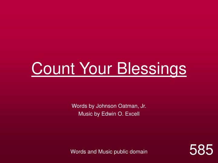count your blessings n.