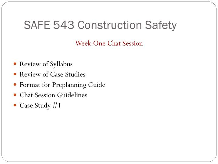 safe 543 construction safety n.