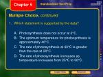 multiple choice continued