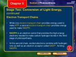 stage two conversion of light energy continued
