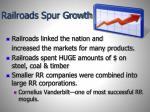 railroads spur growth