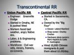 transcontinental rr
