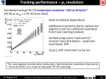 tracking performance p t resolution