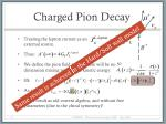 charged pion decay