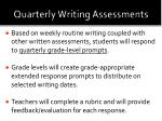quarterly writing assessments
