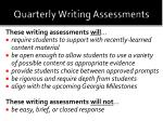 quarterly writing assessments1