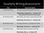 quarterly writing assessments3