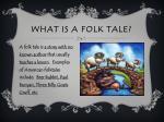 what is a folk tale