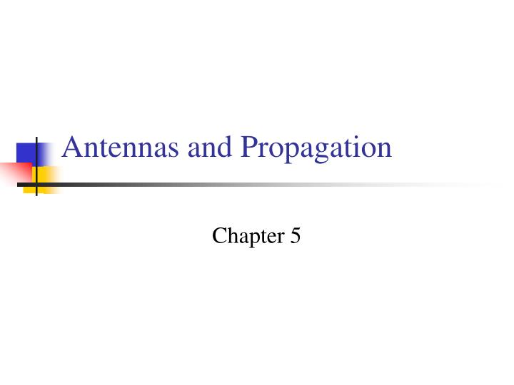 antennas and propagation n.