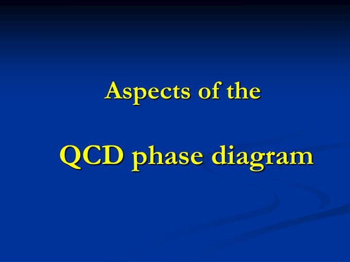 aspects of the qcd phase diagram n.