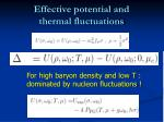 effective potential and thermal fluctuations