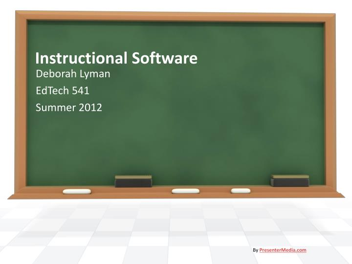 instructional software n.