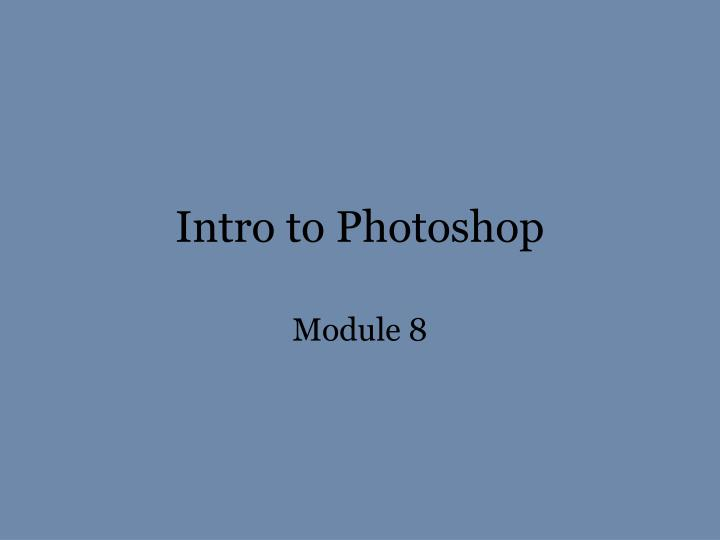 intro to photoshop n.
