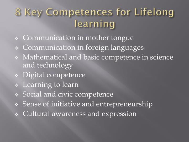 8 key competences for lifelong learning