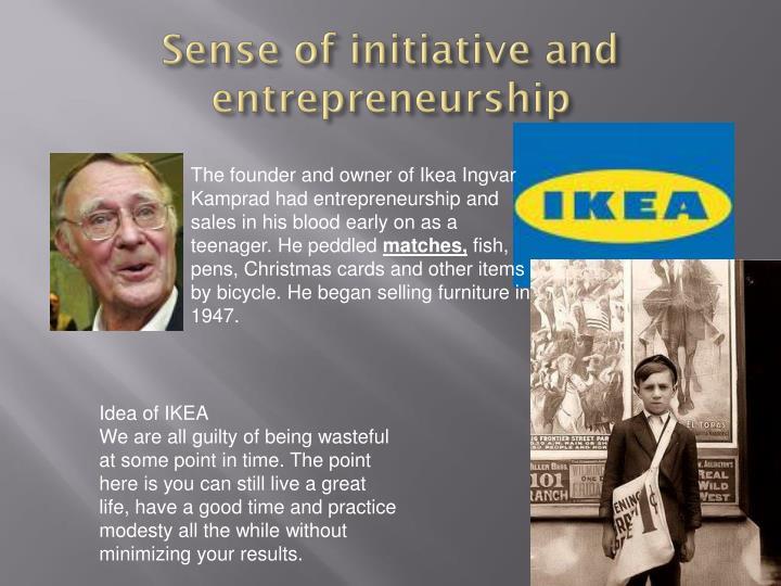 Sense of initiative and entrepreneurship