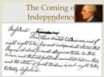 the coming of independence5