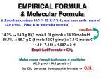 empirical formula molecular formula