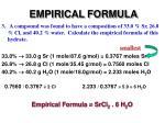 empirical formula5