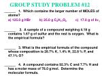 group study problem 12