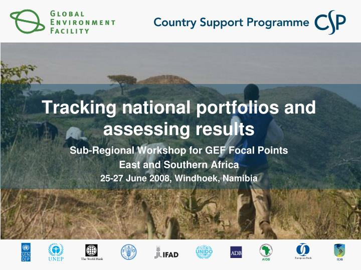 tracking national portfolios and assessing results n.